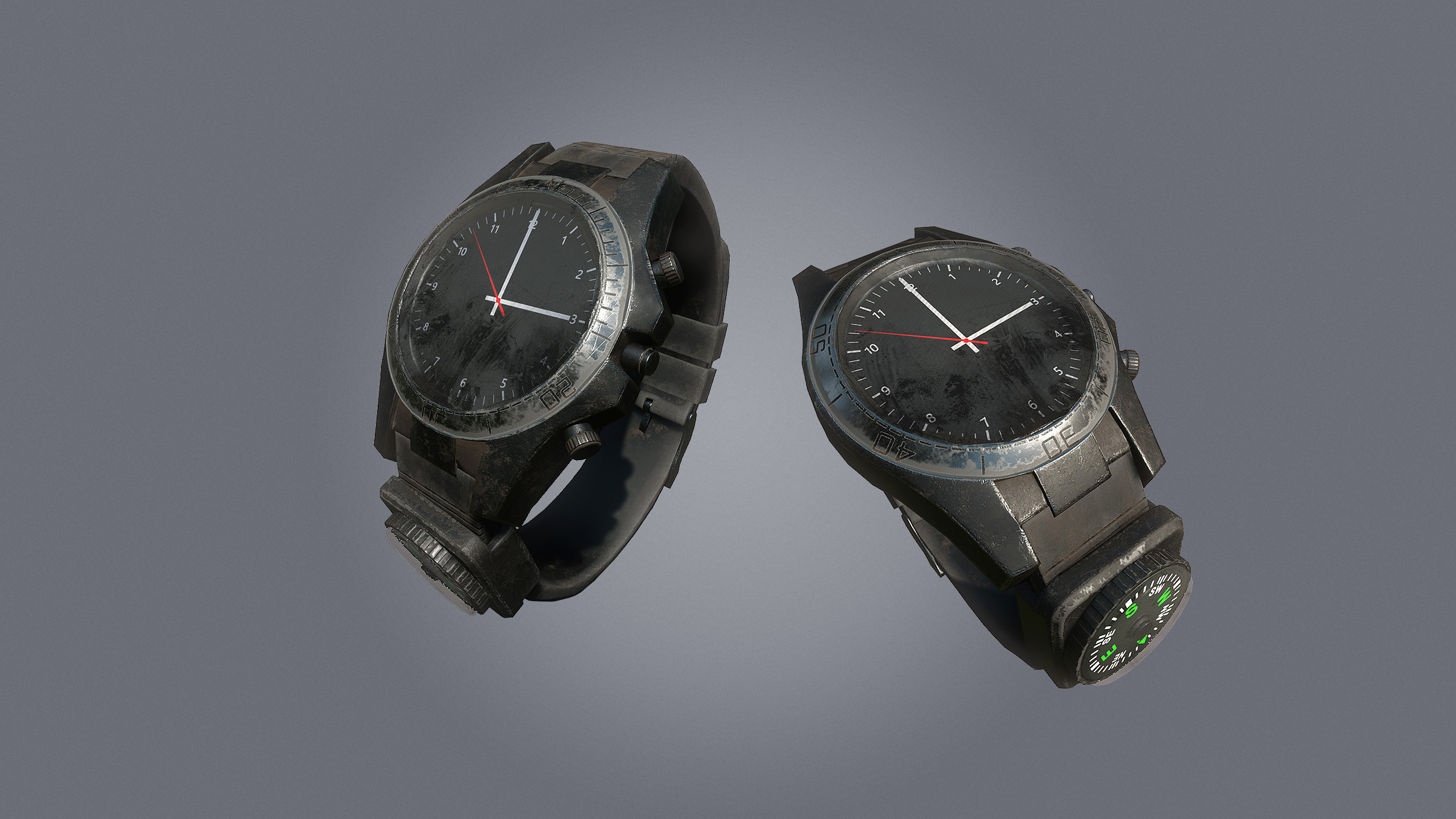 Watch/Compass Combo item, worn on the wrist.