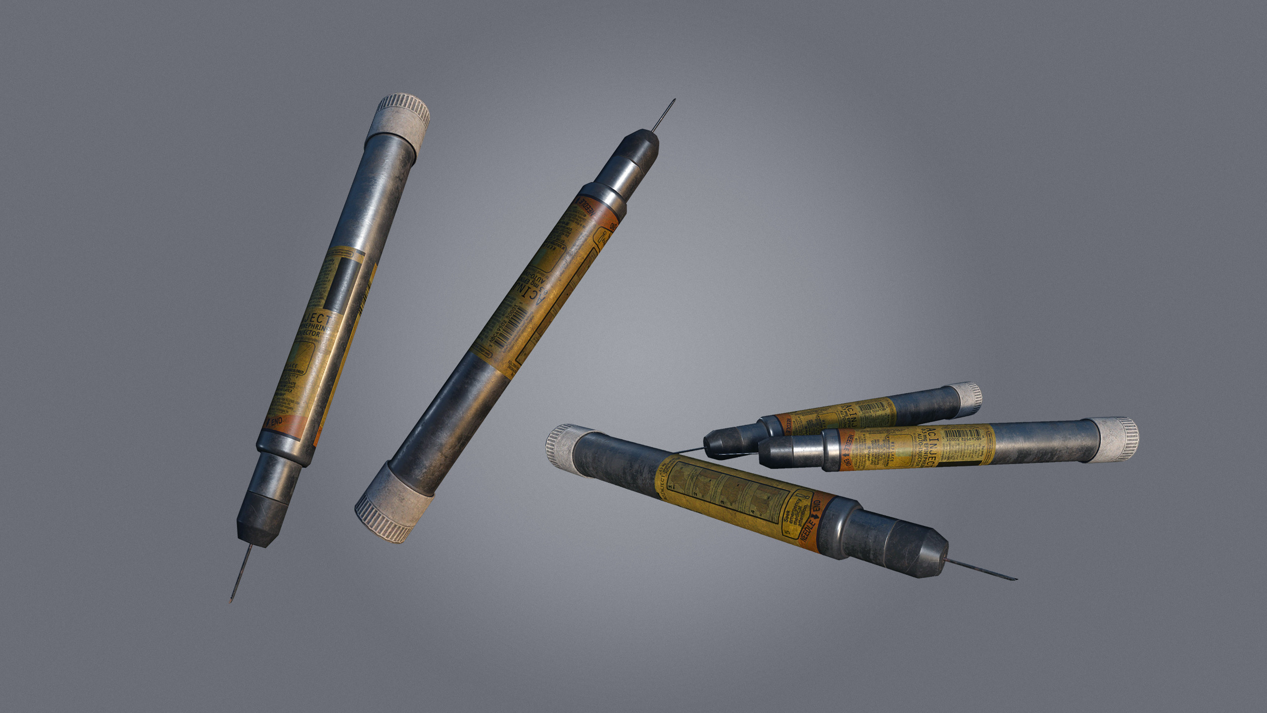 Adrenaline Syringe, used to revive unconscious players instantly