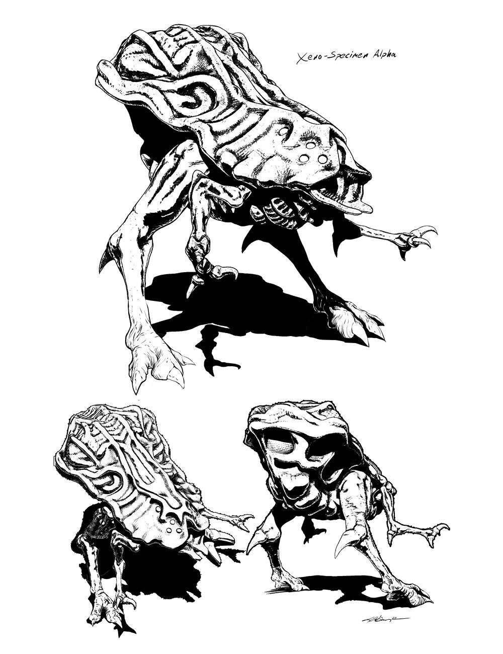 Concept art behind the critter...
