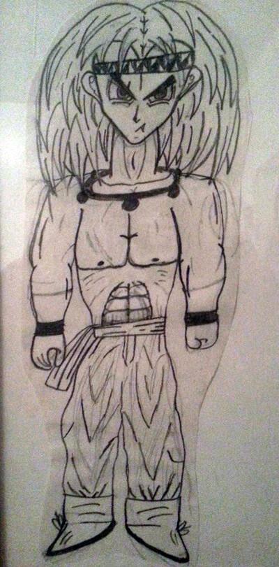 The original whole-body sketch of Yenen