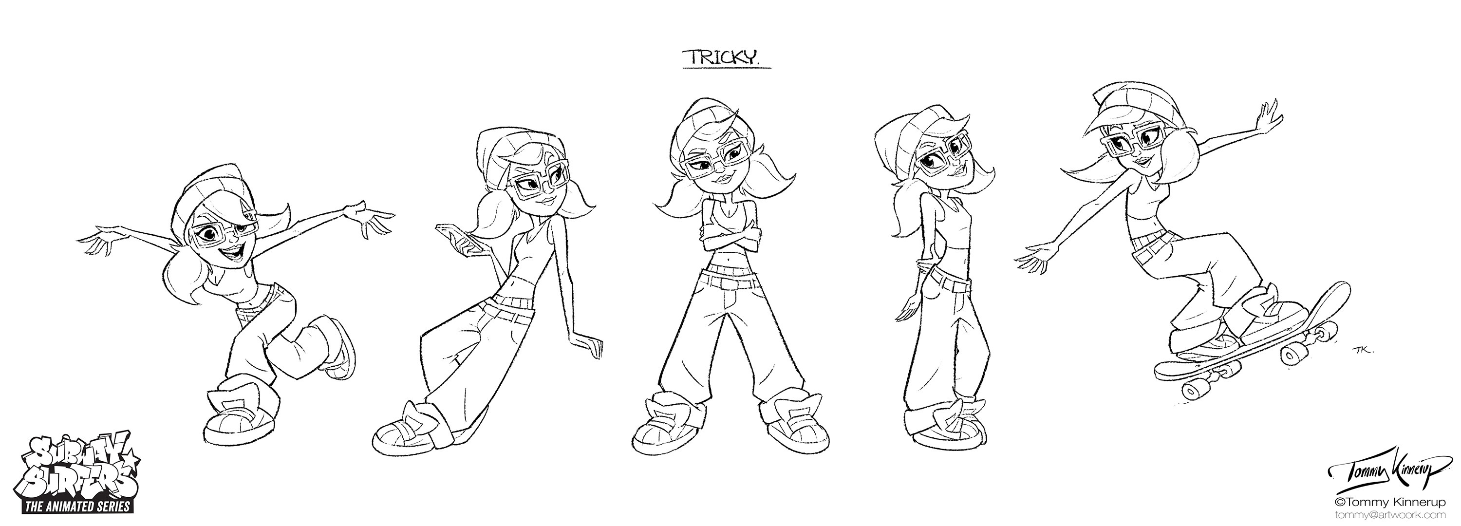 Tricky's poses