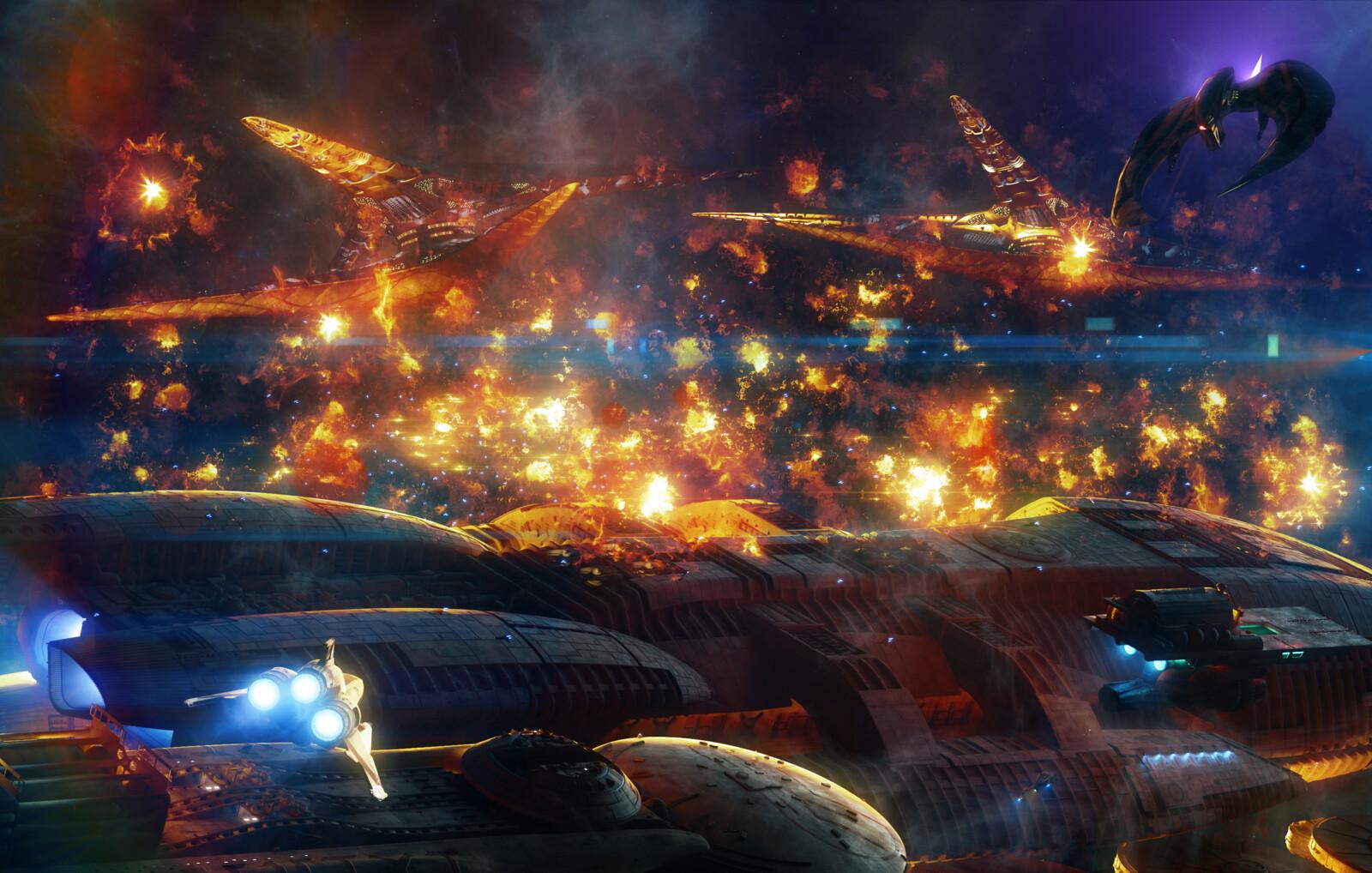 Art using our assets from Battlestar Galactica 2003