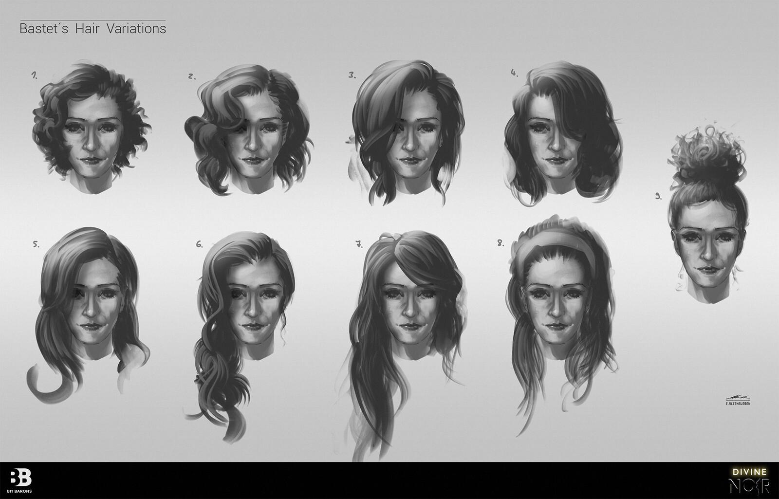 Bastet - Hair Variations