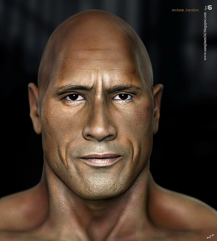 Dwayne Johnson_Rock CG Character one of my old works... Did some R&D Fixed some issues... Wish to share a snap!