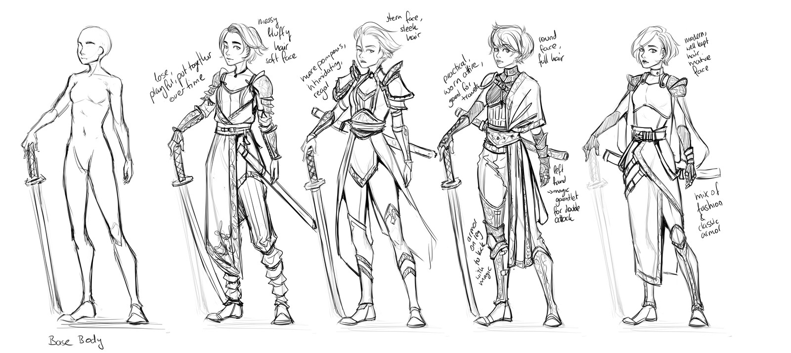 Concepts for Nehan's outfit for Erik Flowers (@erikflowers on twitter)