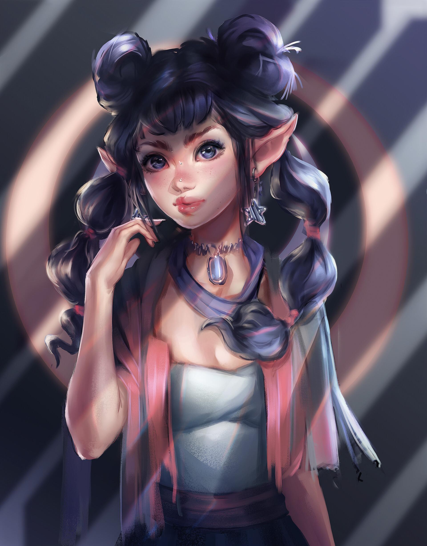 okio chan - Elf Anime Girl