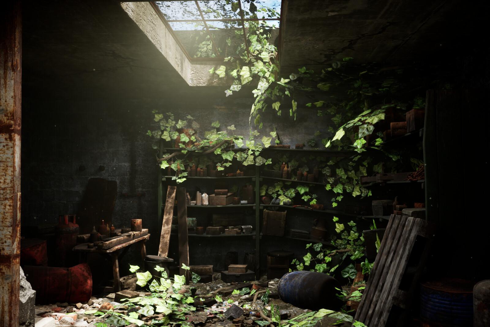 Abandoned Basement UE4 Ray Tracing