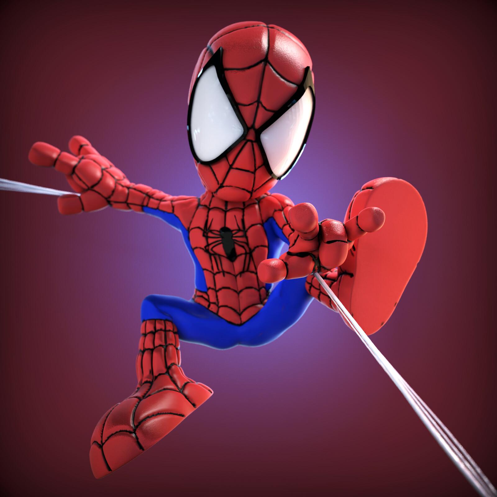 Chibi-Style Spider-Man