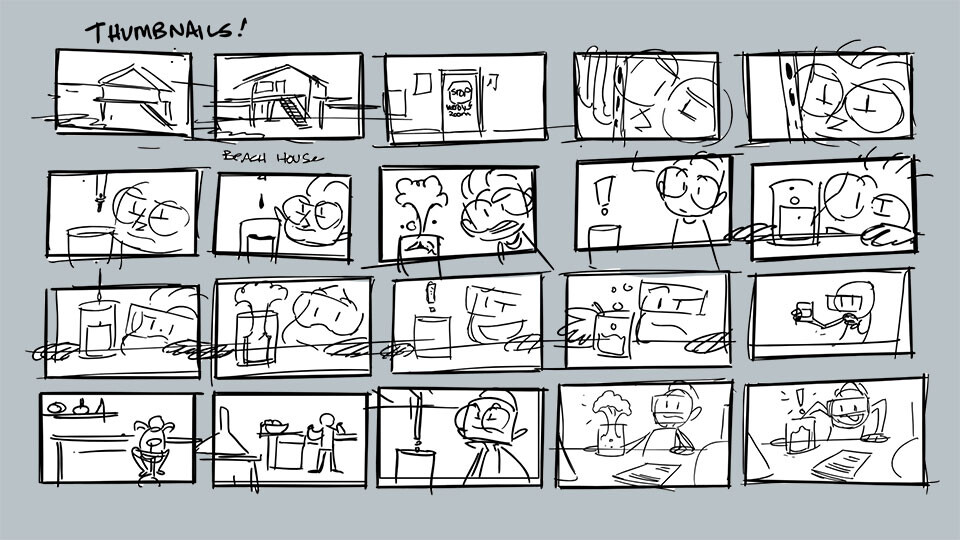 Sample Thumbnails: Fixing what didn't work in the first draft of the story.