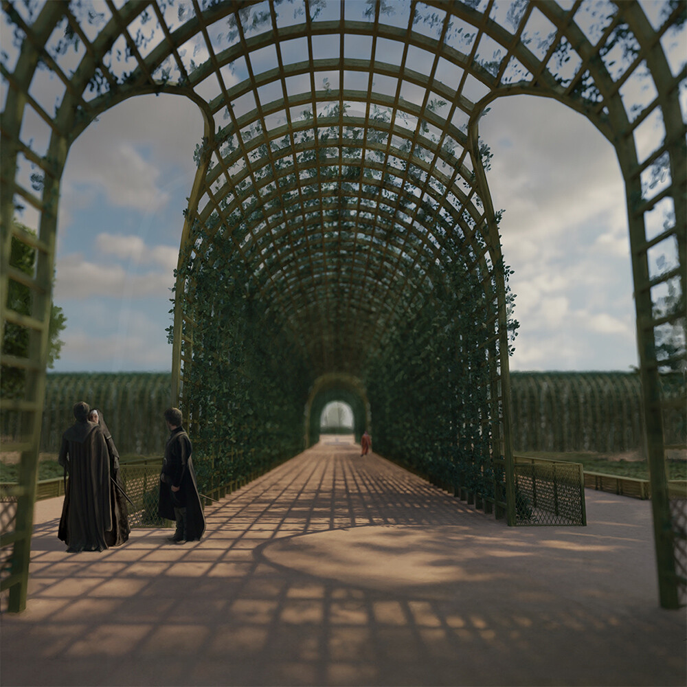 Reconstruction of a Spanish pergola from the 17th century