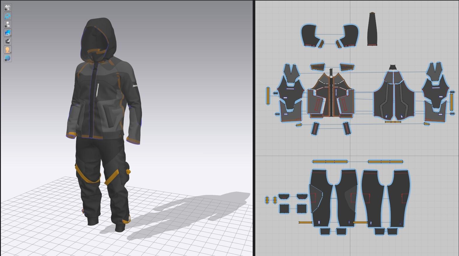 Cloth Pattern layout