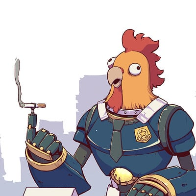 A shipwright chicken police