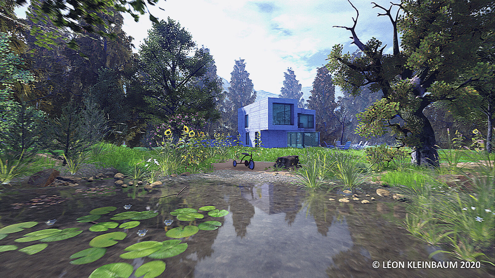 """Exterior Visualization UR4, """"House by the lake"""""""
