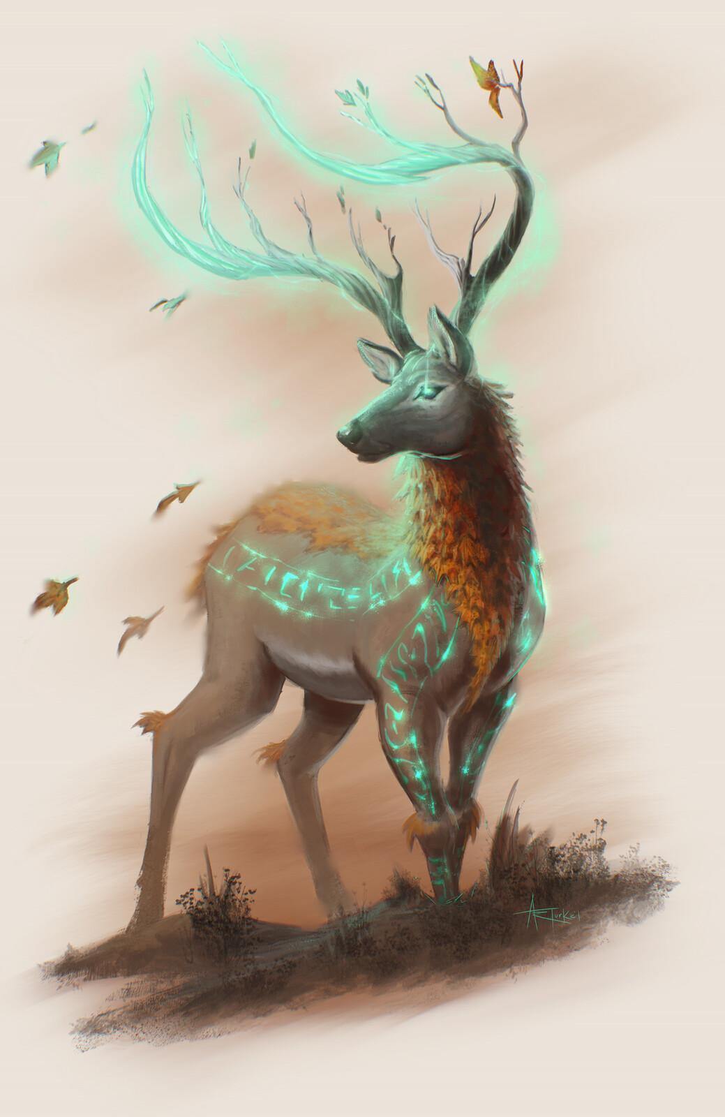 The light version of a druid spirit animal.