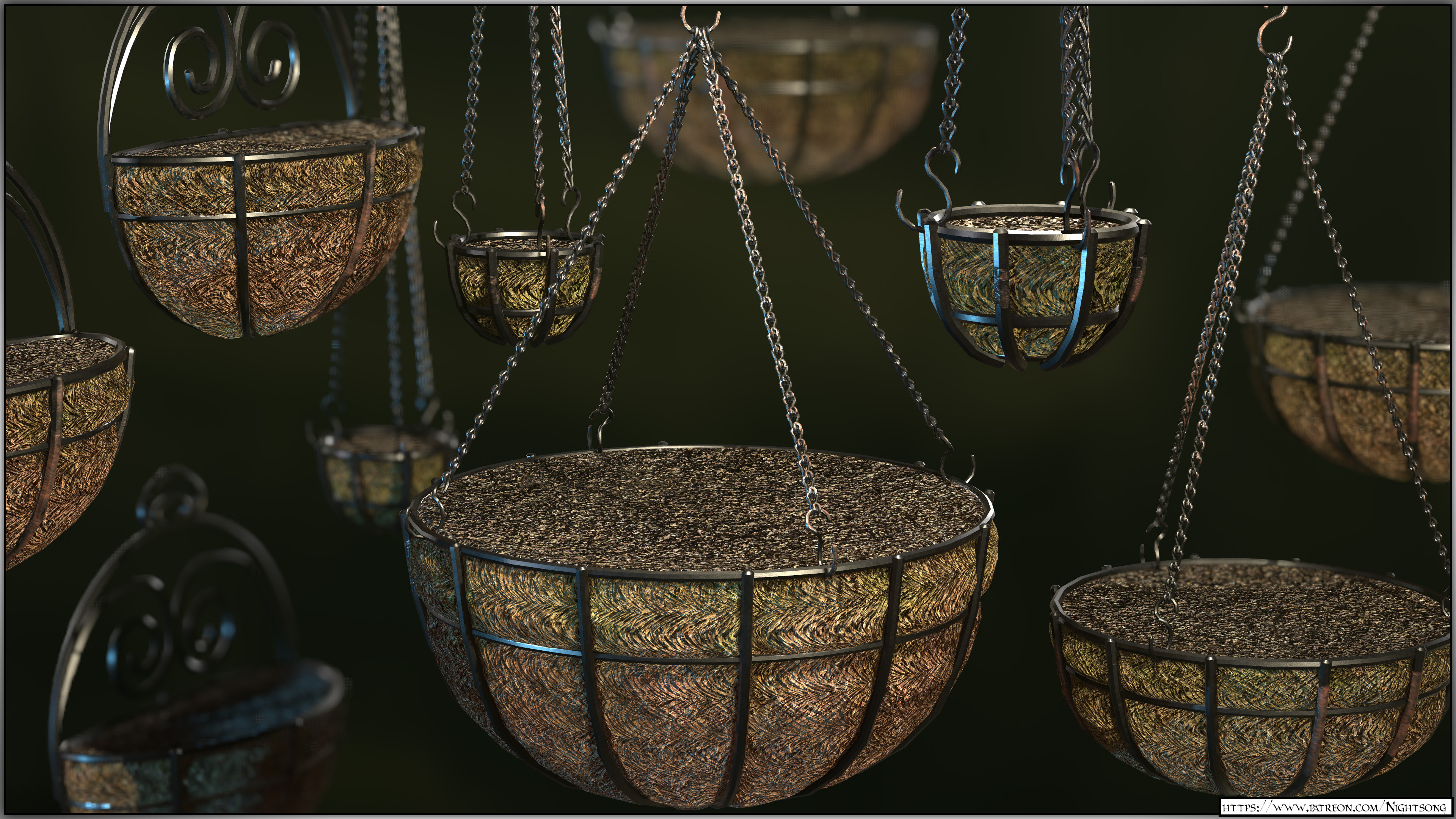 A render in Marmoset Toolbag of each of the baskets.