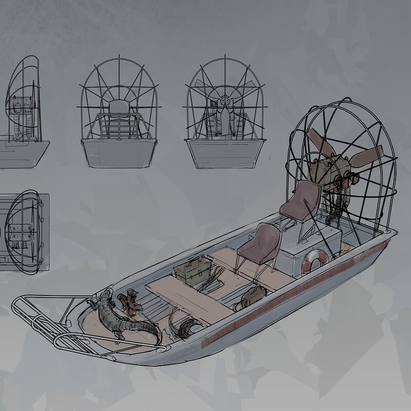Airboat Model Sheet