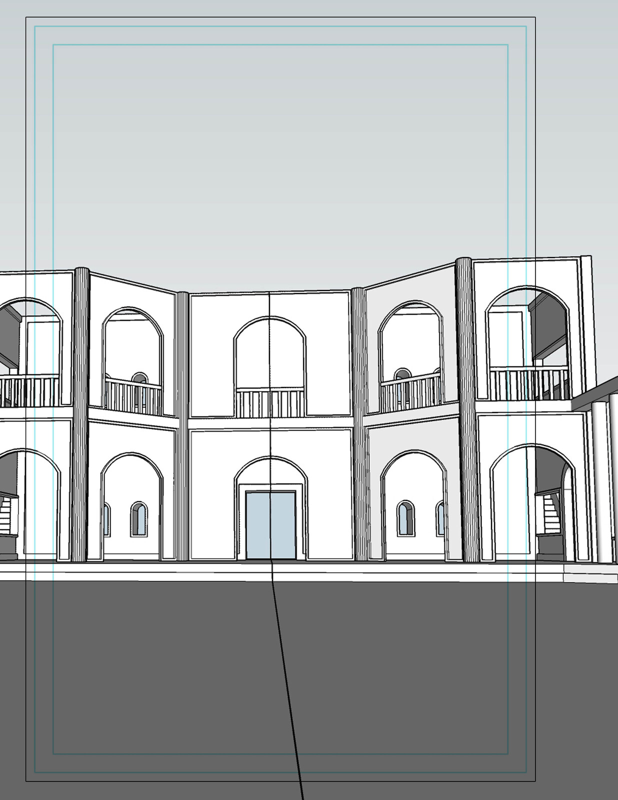 SketchUp Model - Front Cover