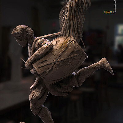Surajit sen dhaki2 1 digital sculpture surajtsen sept2020a