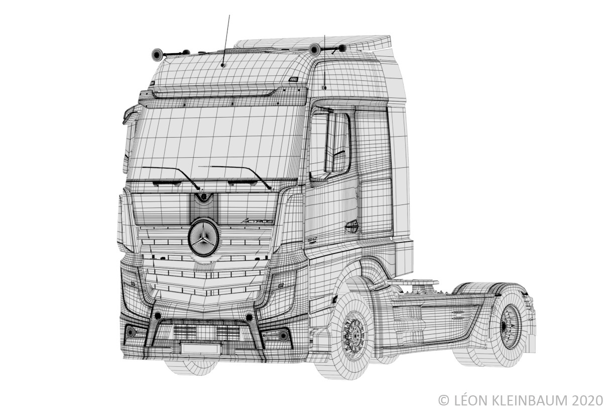 highRes Wireframe Polycount: 346 147