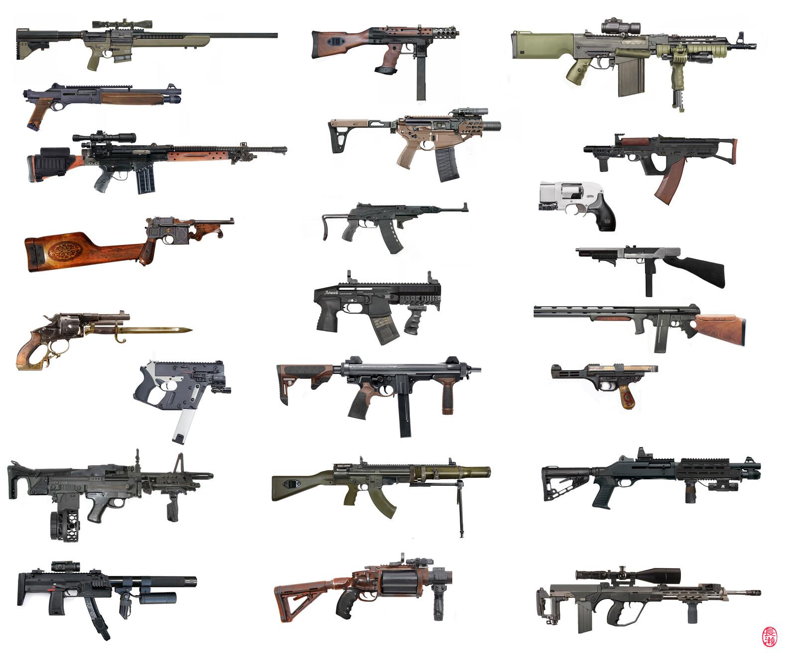 Weapon photobashing