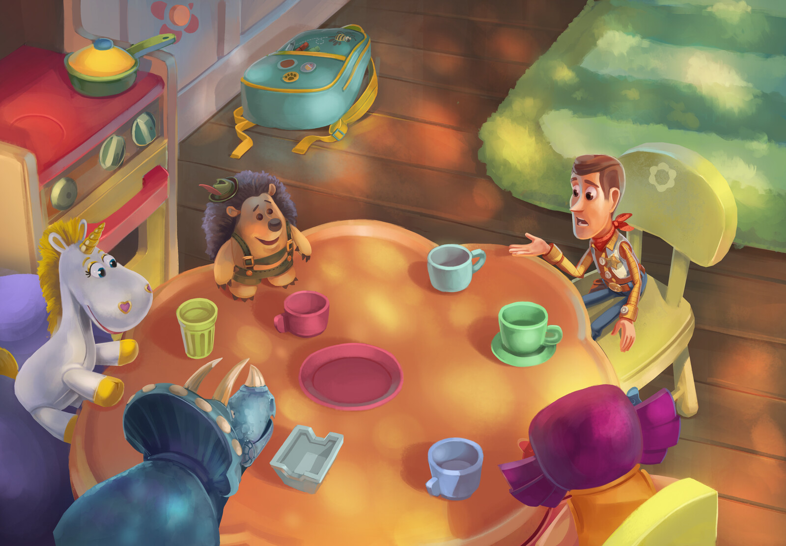 Color Tests I did a while ago for a storybook.
