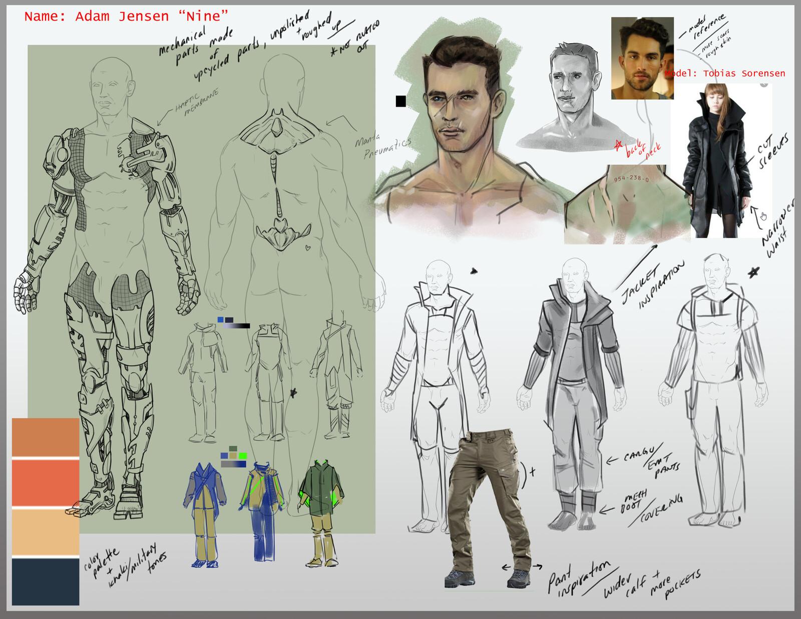 Original Character Concept - Design Board