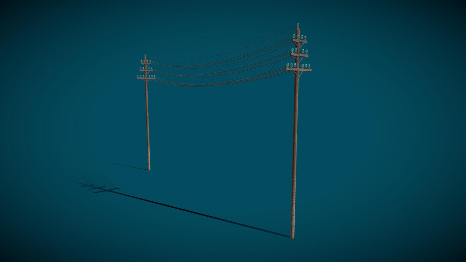 1880s Electric Pole