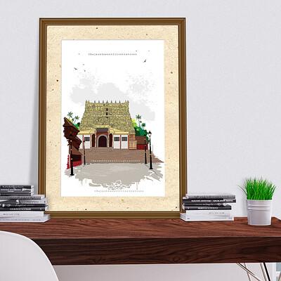 Rajesh r sawant pabmanabh temple mockup
