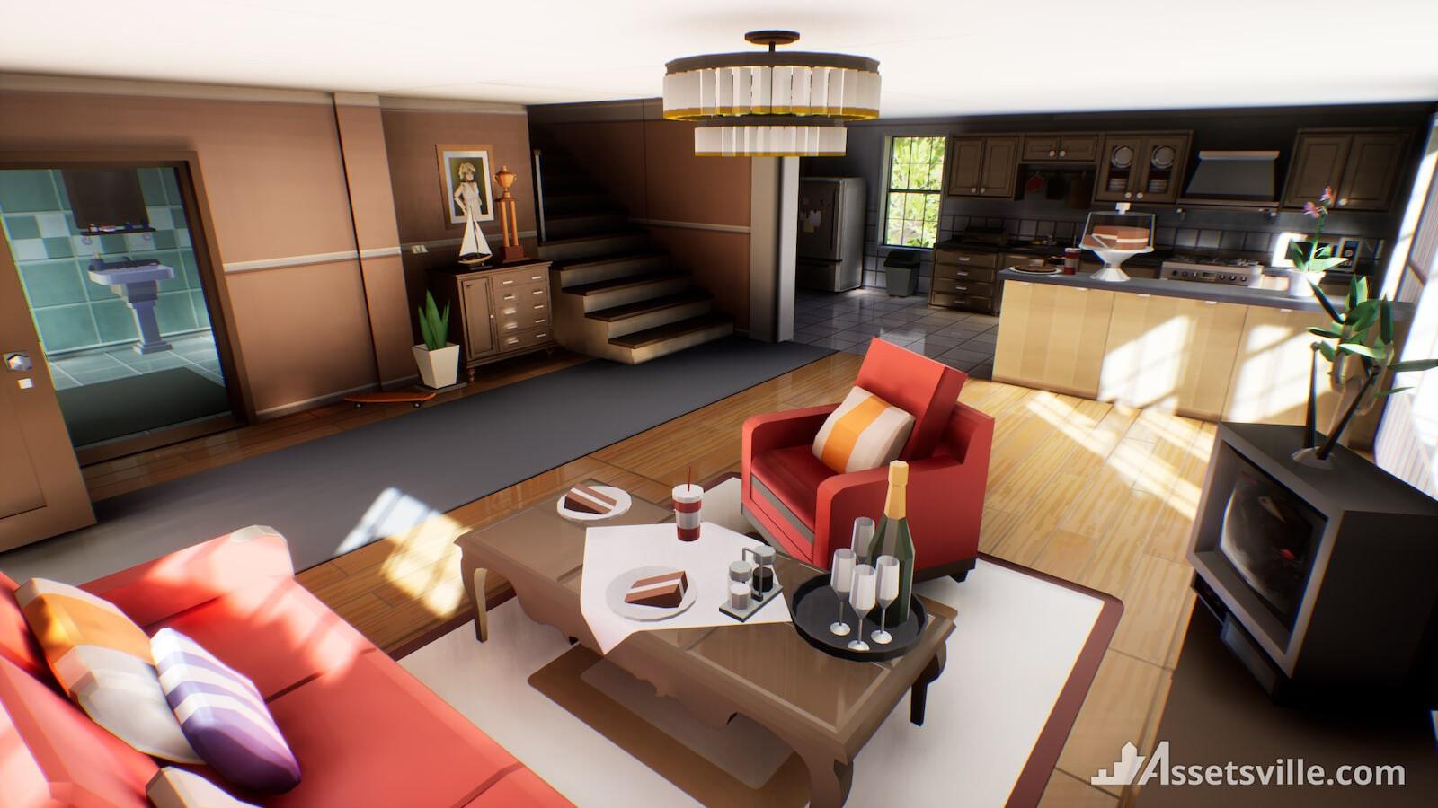 Low Poly Game Art | 3d Lowpoly art in blender | Blender LowPoly World | Lowpoly interiors | Low Poly Models | 3d Game Models