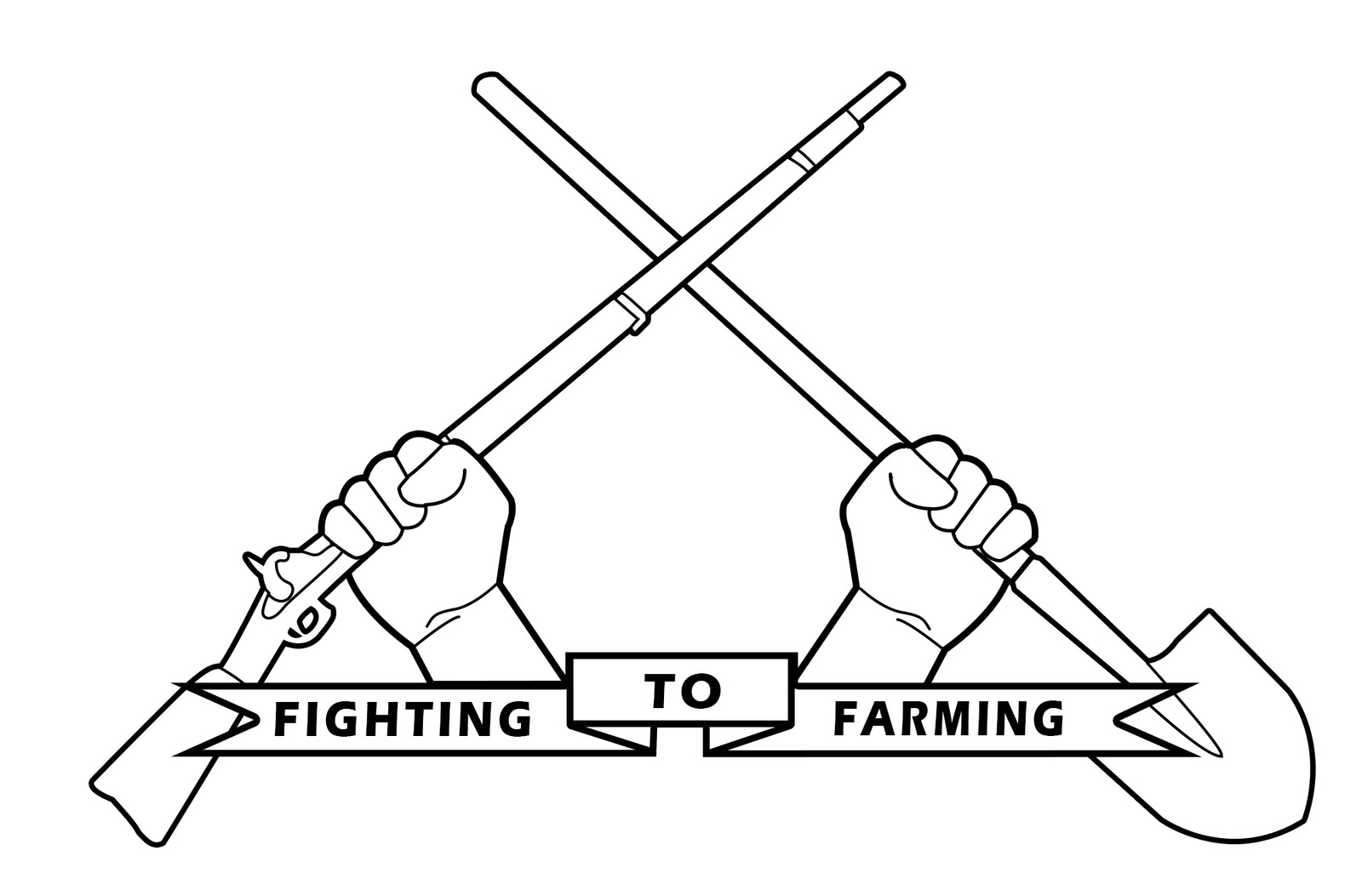 The second F2F logo concept (B&W Musket Version)