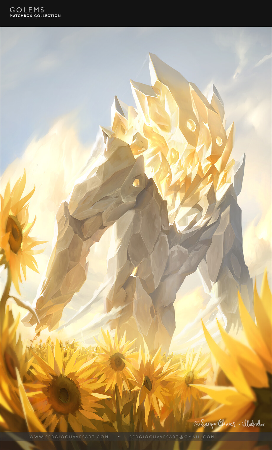 Golem - Light.   I decided to portray all Golems as gentle giants in positive, uplifting attitudes and framing