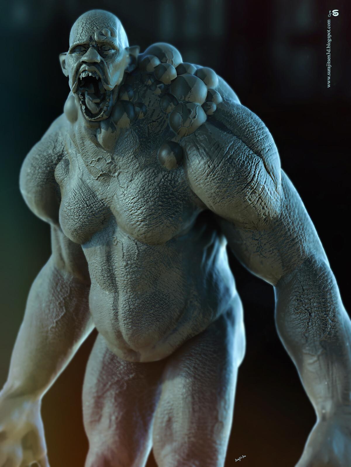 Monster2.2 Digital Sculpture Quick blocking Free time study work Background music- #hanszimmermusic