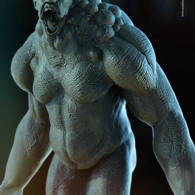 Surajit sen monster blocking digital sculpture surajitsen sept2020ab