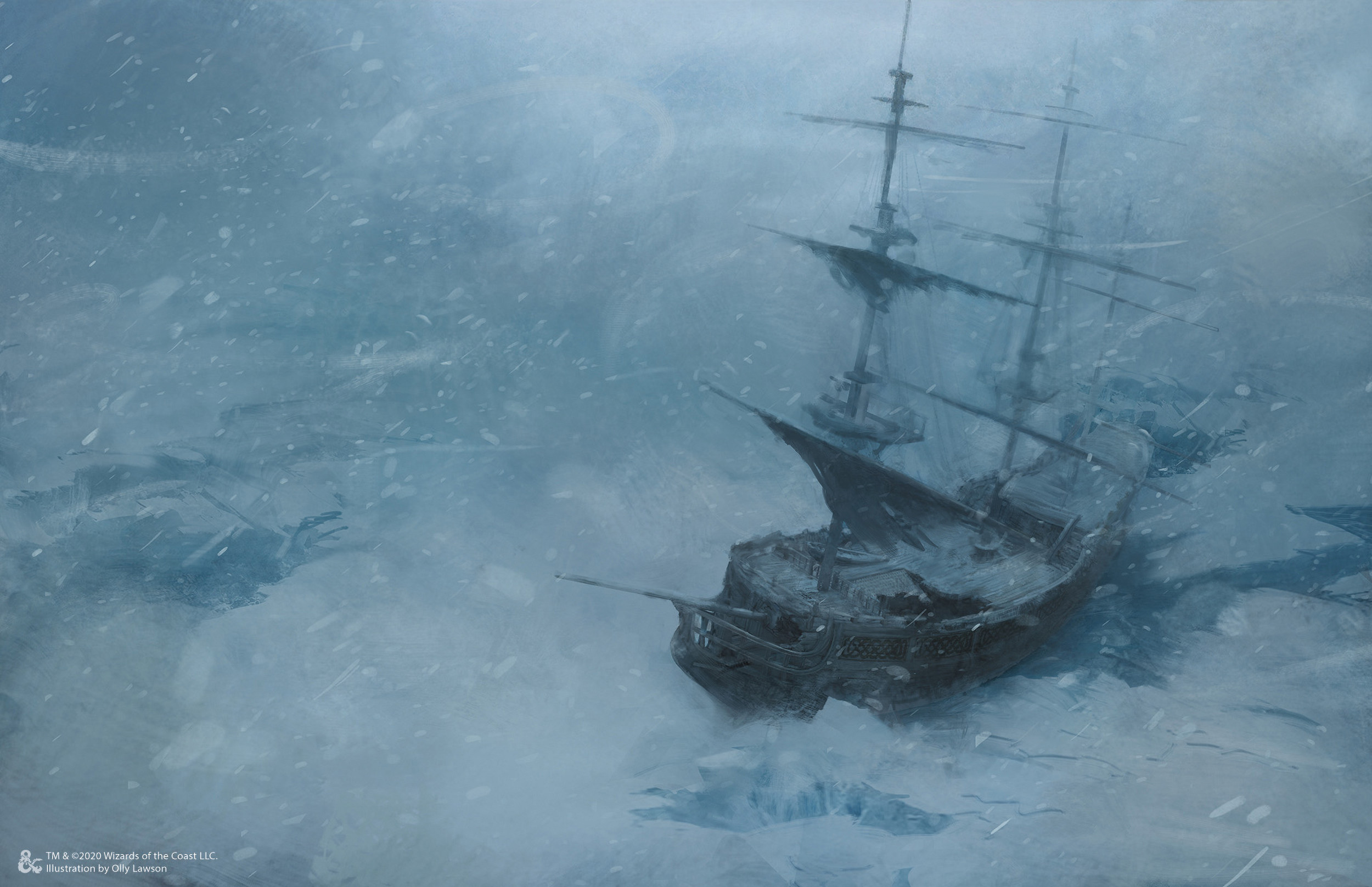 """The Dark Duchess is trapped in the ice - another victim of the Frostmaiden's everlasting winter."""
