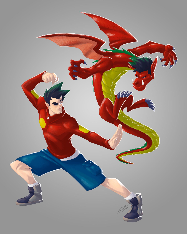 American Dragon Art Change