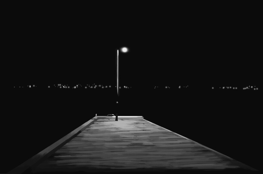 Night scene, Oslo harbour