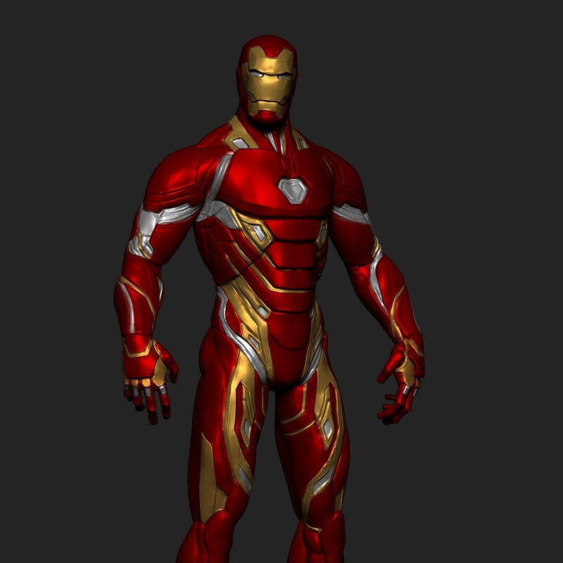 Iron-Man: Zbrush Sketch  Rough Sculpt Part I