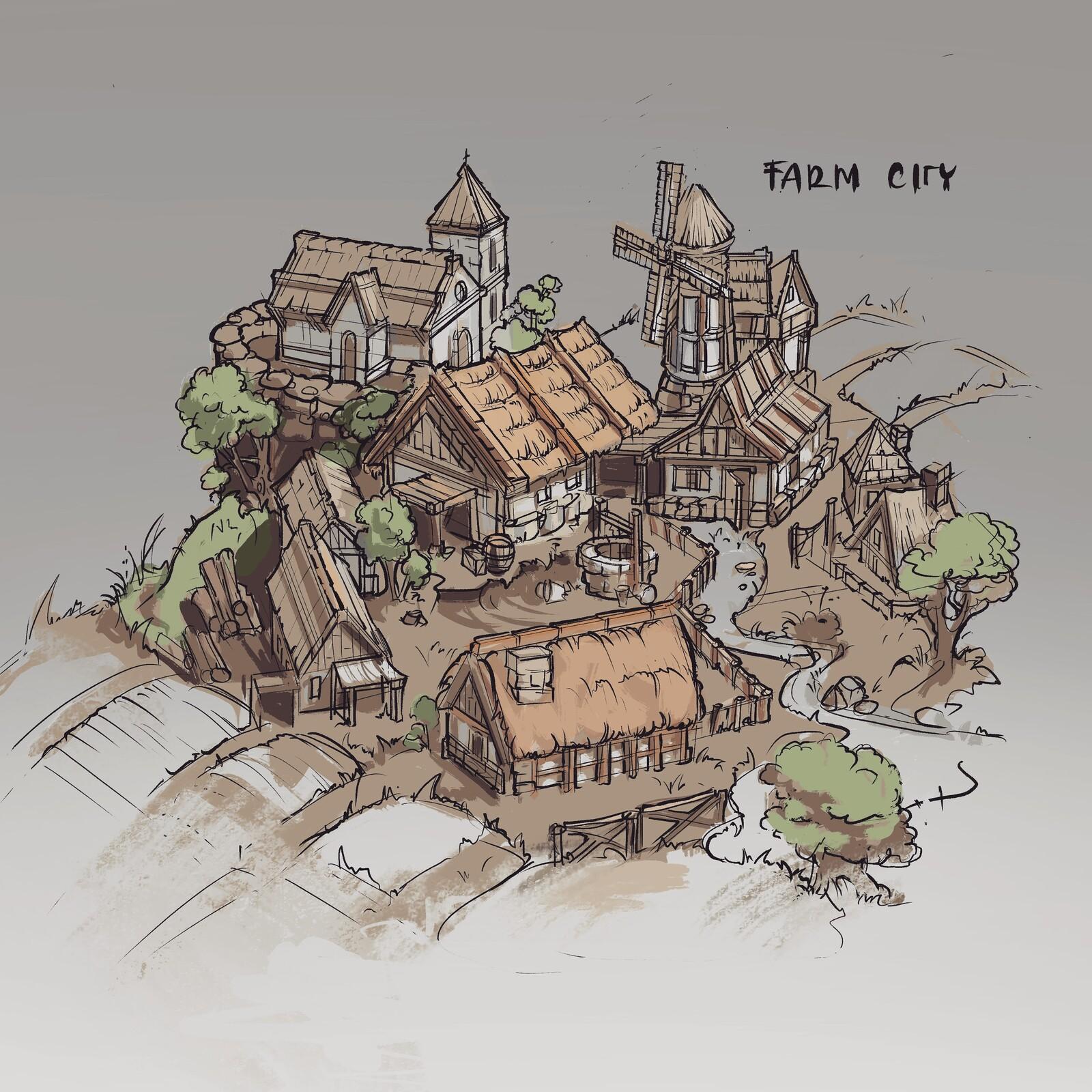 Farm concemt sketch.