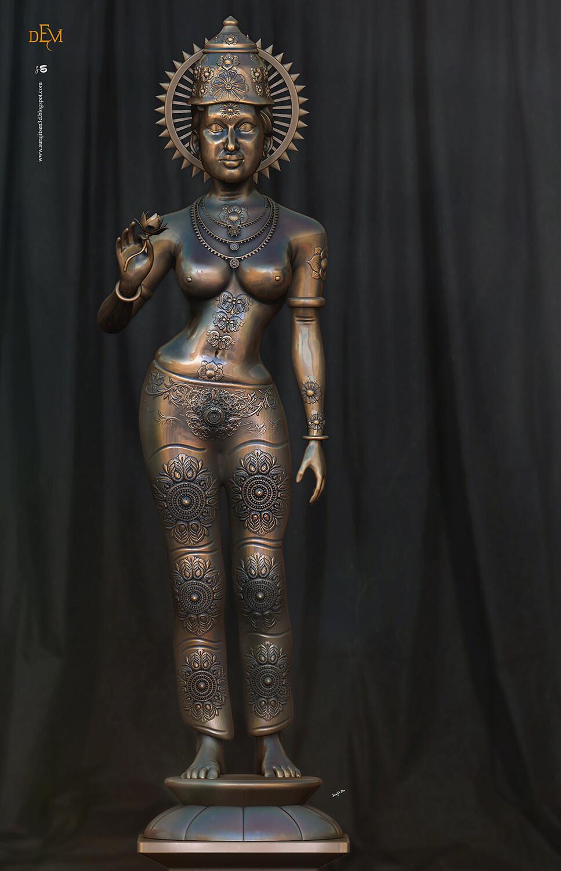 Devi Digital Sculpture Background music- #hanszimmermusic  #surajitsen #artist #indianartist #digitalsculpting #study #contemporary