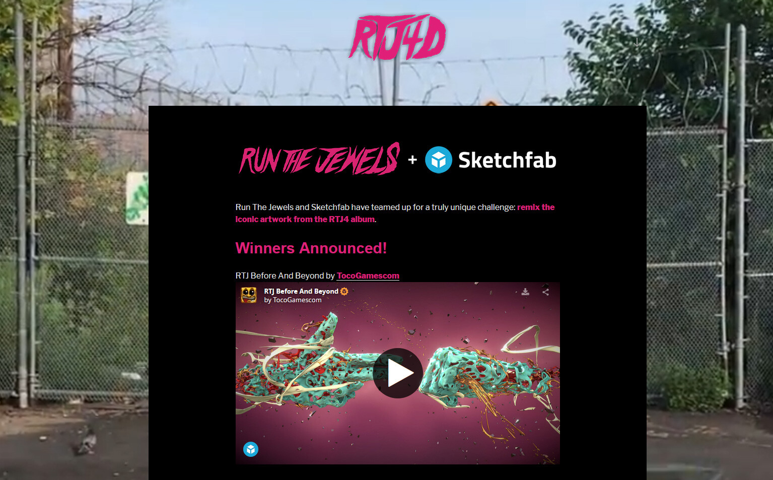 Winner in the Sketchfab Run The Jewels competition: https://sketchfab.com/blogs/RTJ4D/