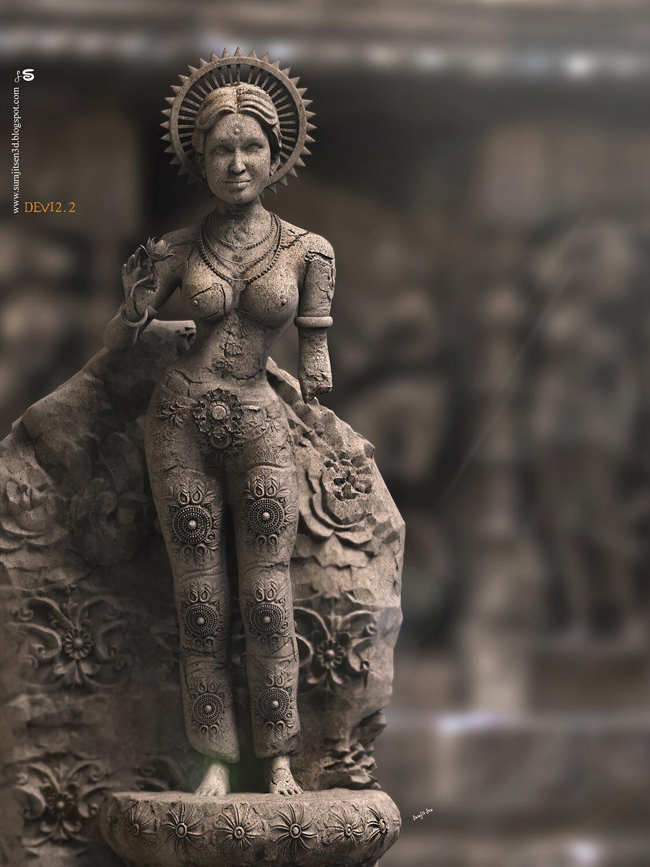 Devi2.2– Digital Sculpture by Surajit Sen Devi2.2 Digital Sculpture Background music- #hanszimmermusic