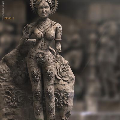 Surajit sen devi2 2 digital sculpture surajitsen sept2020a