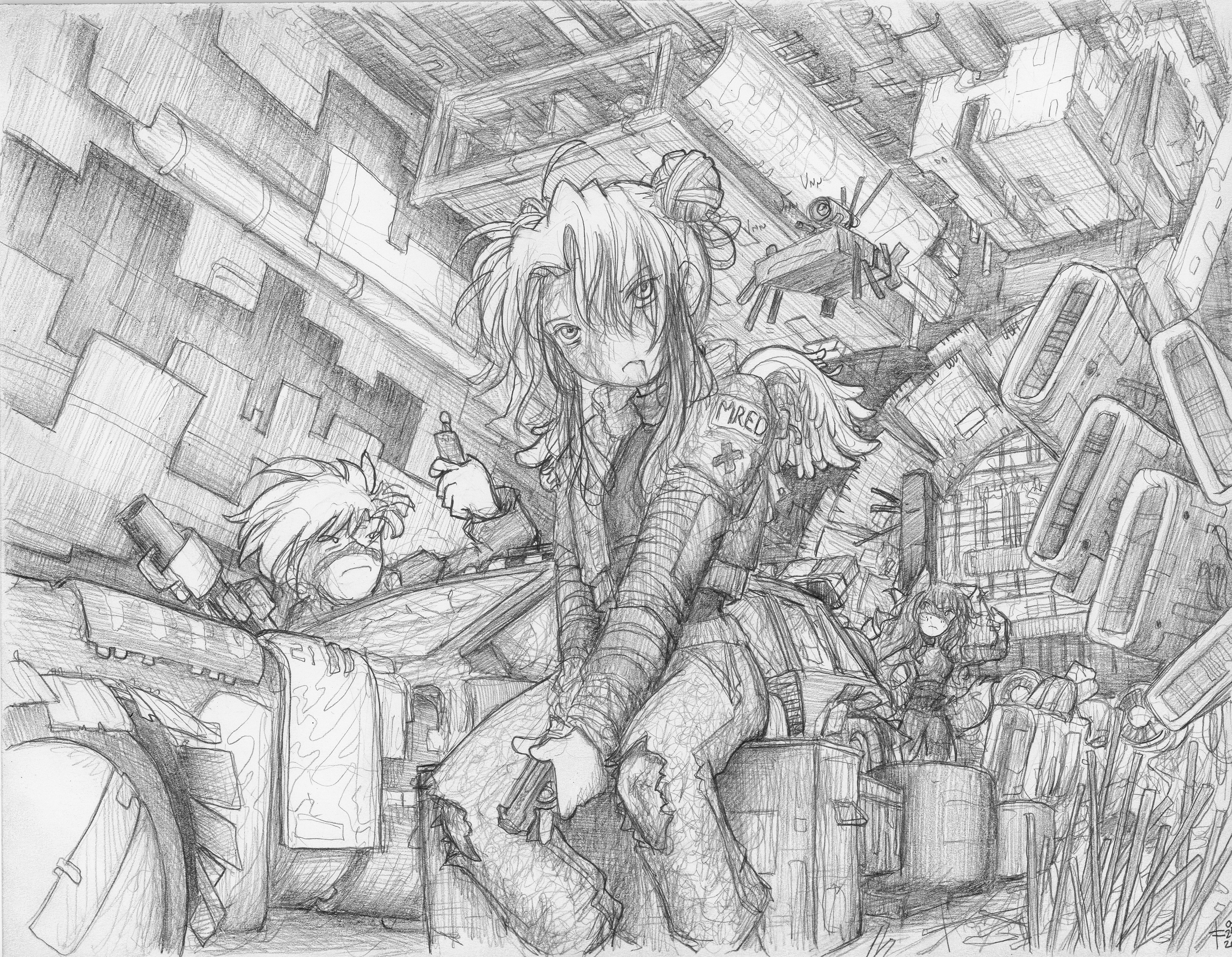 Pencil (HB) on HP Bright White Inkjet Paper - final render (no color for this one)