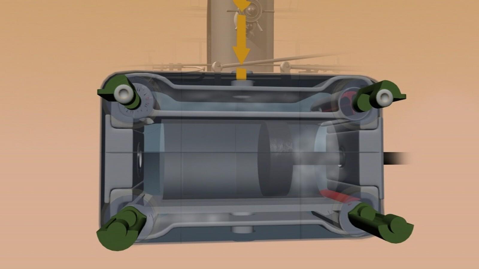 High Pressure Cylinder cutaway.