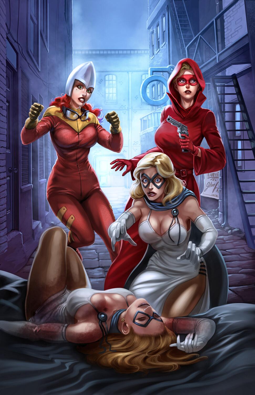 Domino Lady Threesome #3 Cover
