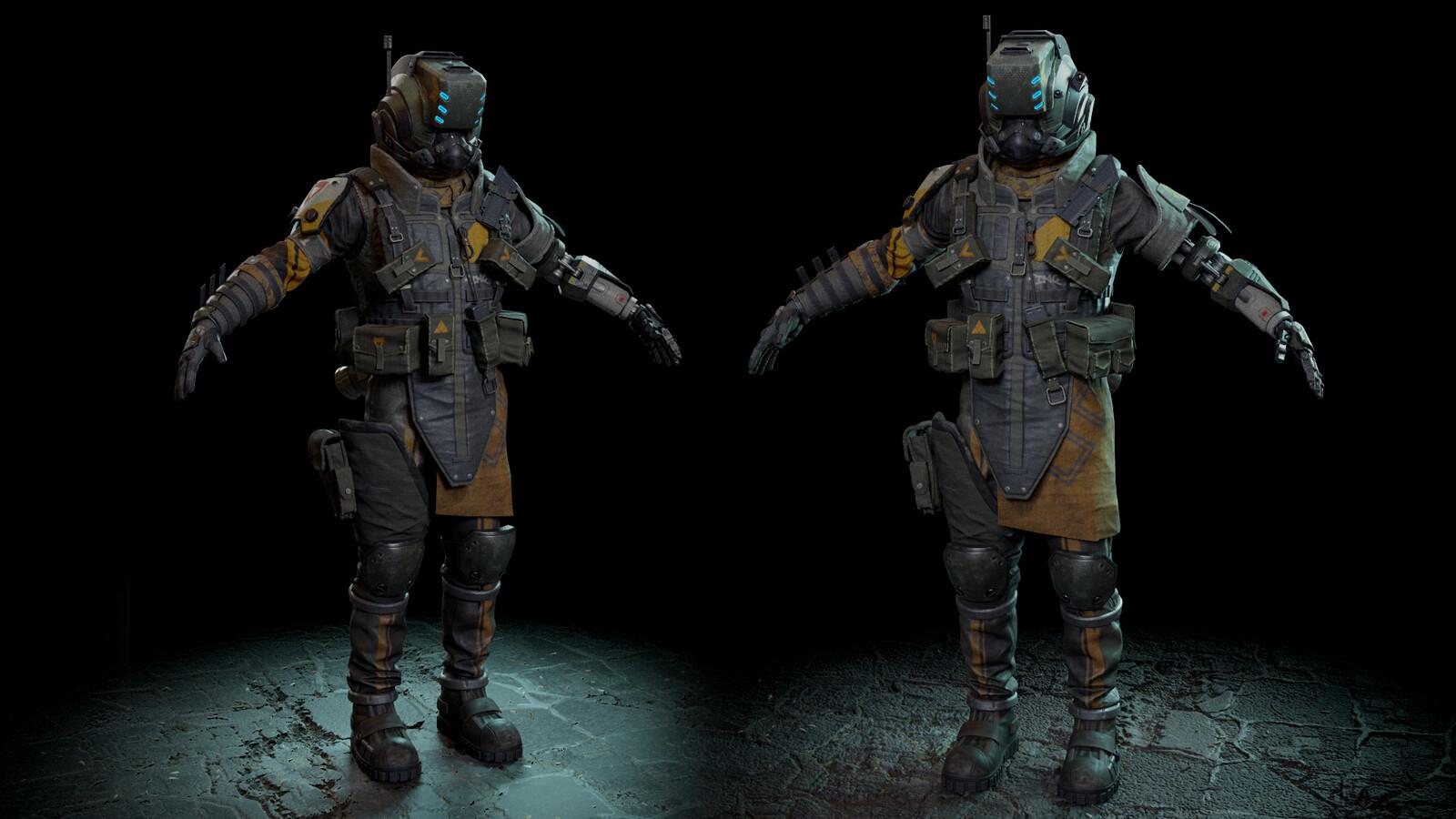"[WIP] MCOR Militia ""Maurauder"" Pilot, Desmond - Titanfall Fanart"