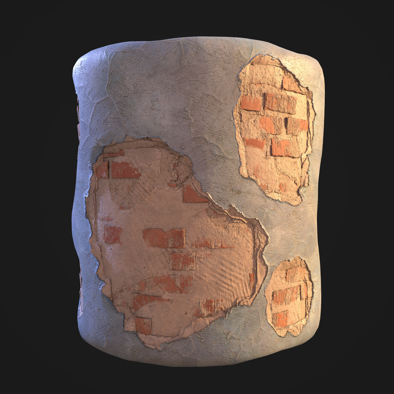 Bricks-Plaster-Paint Blend
