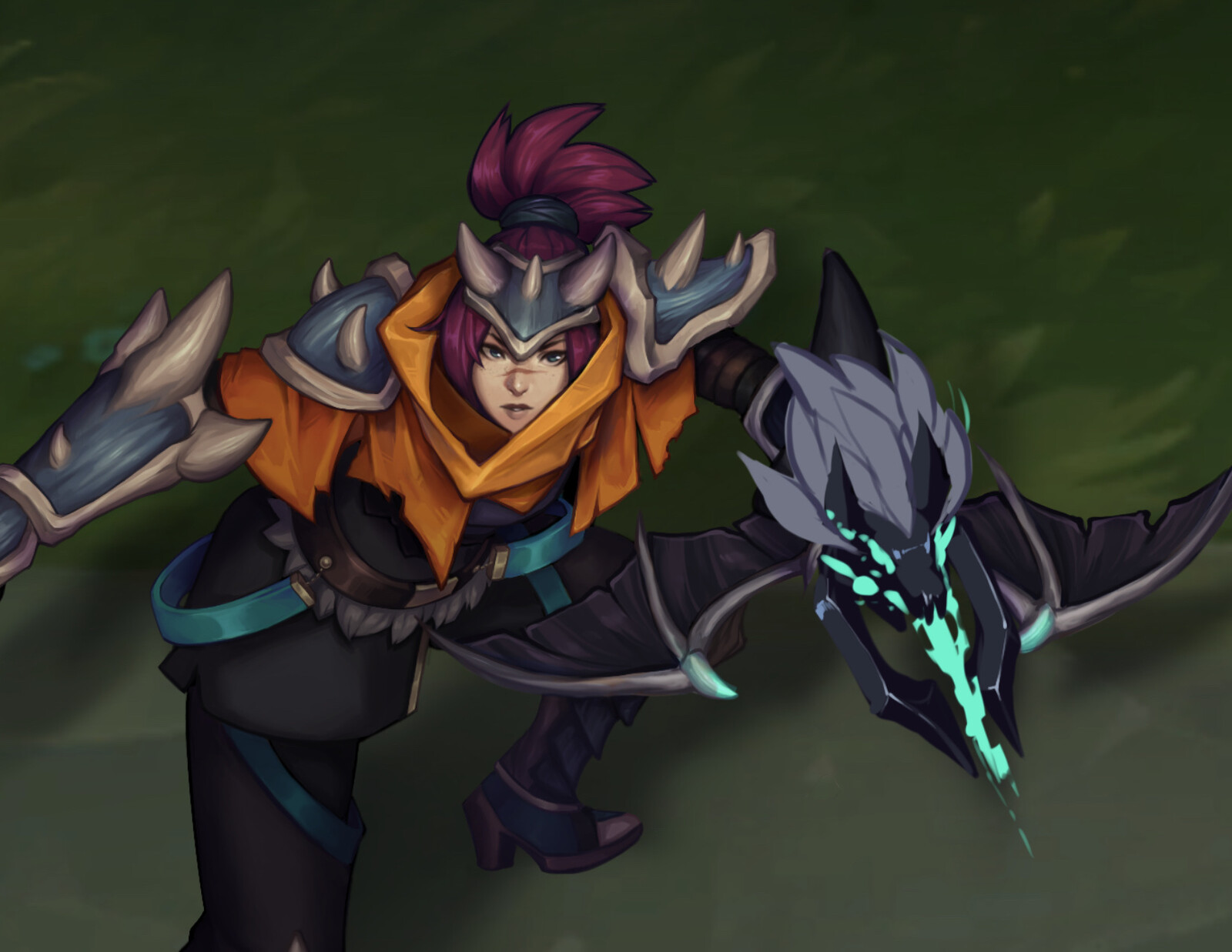 League Fan Skin - Dragon Tamer Quinn [WIP]
