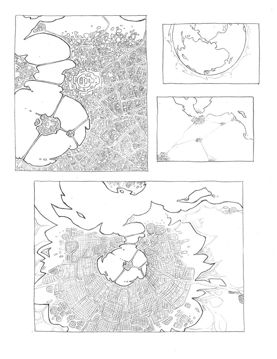 Arial City View - 8.5x11 Copy Paper, 2B Lead