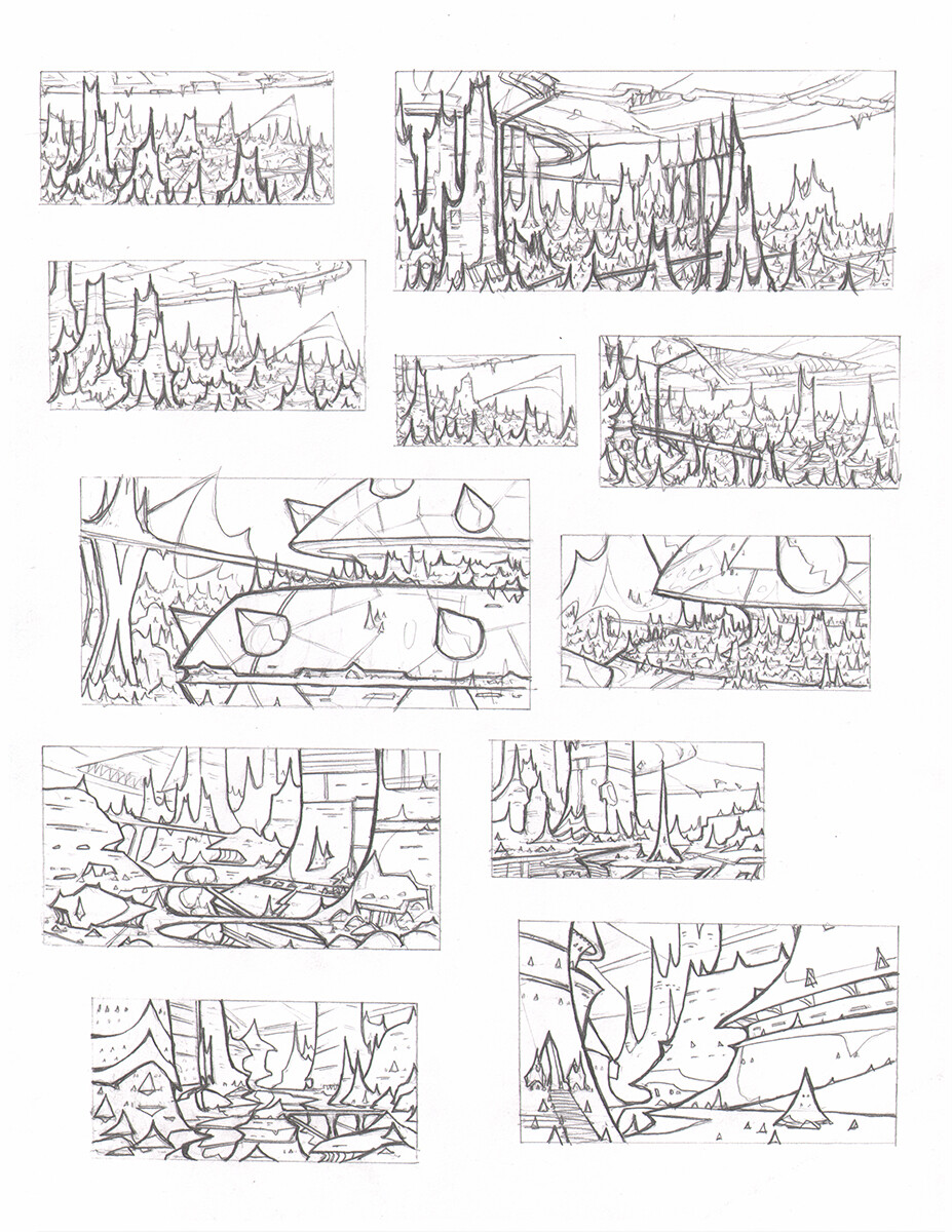 Roughs - 8.5x11 Copy Paper, 2B Lead